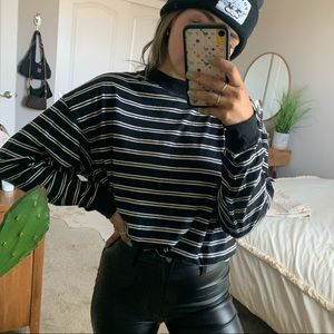 Urban Outfitters Black & White Stripe Long Sleeve